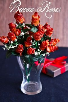 Show Your Valentine Some Meaty Love with Bacon Roses. Nothing says I love you like Bacon!
