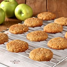 Soft and chewy Paleo Apple Cinnamon Cookies, with fluffy, tender crumbs. Contains no eggs, grains, gluten, dairy or refined sugar.