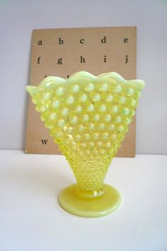 Love this bumpy glass so much! What a lovely vintage piece.