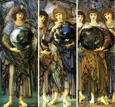 Three of the ''Days of Creation'' by Sir Edward-Burne-Jones