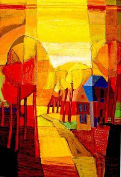 Ton Schulten (born 25 April Ootmarsum, Overijssel) is a Dutch painter who mainly paints landscapes using bright blocks of colour. Landscape Artwork, Abstract Landscape, Art Is Dead, Dutch Painters, Dutch Artists, Naive Art, Tree Art, Artist Art, Art Images