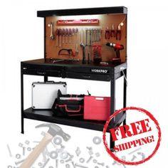 Workbench-for-Garage-Multi-Purpose-Work-Storage-Tool-Shelf-Workshop-Table