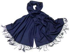 Etole bleu marine cachemire et laine Edition limitée - Etole cachemire - Mes Echarpes