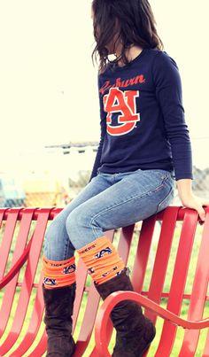 Little Big Fan Leg Warmers Auburn University #clothdiapers