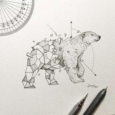 Эскизные рассказы - Прекрасные геометрические животных Kerby Rosanes