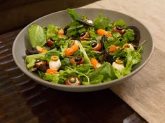 Spooky Salad recipe from Patricia Heaton via Food Network. want to try dressing