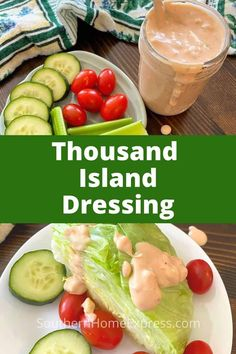 Serve this delicious homemade Thousand Island salad dressing with your next meal. It's easy to make and much more delicious than the bottled version. #homemadesaladdressing #thousandislandrecipe Savory Salads, Healthy Salad Recipes, Baby Food Recipes, Easy Recipes, Homemade Thousand Island Dressing, Chicken Zucchini Casserole, Vegetable Dips, Extra Recipe, Beef And Rice