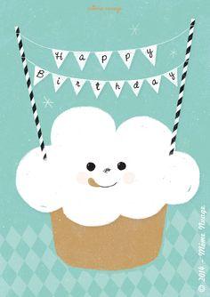 Carte {Happy Birthday} © Môme Nuage