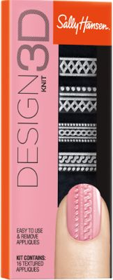 Ask She She Blog: Sally Hansen Design 3D // Sweater-Weather Knits