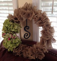 My burlap wreath ; )