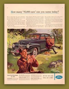 Ford car vintage print ad ephemera 1941 Fly by catchingcanaries