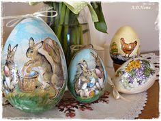 jaja decoupage, Wielkanoc