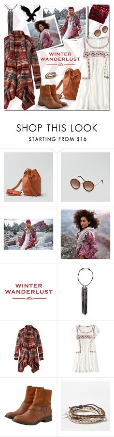 """""""Winter Wanderlust with American Eagle: Contest Entry"""" by margaretferreira on Polyvore featuring American Eagle Outfitters, holidaystyle, winterstyle, aeostyle and winterwanderlust"""