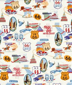 Shop Alexander Henry Route 66 Natural Fabric at onlinefabricstore.net for $9.65/ Yard. Best Price & Service.