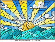 Image result for stained glass sea patterns