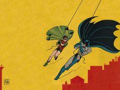 Batman and Robin from the Detective Comics Robin Comics, Batman Robin, Marvel Dc Comics, Bob Kane, Comic Book Characters, Comic Books Art, Comic Art, Mark Ryden, Dark Knight Returns