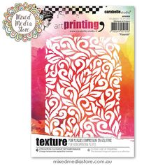 This Carabelle Studio Flourish texture plate is perfect to use with clay, gelli plates, paint and ink for awesome texture in your mixed media art! Get it now at mixedmediastore.com.au :)