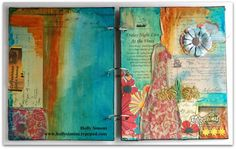 mixed media art journals with Tattered Angels