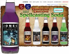 Spellcasting soda: Dungeons and Dragons drinks! I MUST HAVE THESE!!!!! They're perfect for game night!