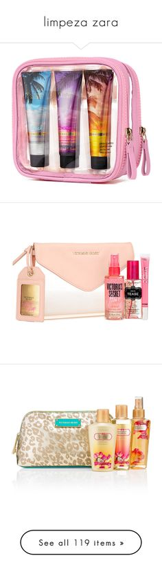 """""""limpeza zara"""" by renatareeh02 ❤ liked on Polyvore featuring beauty, fragrance, makeup, beauty products, victoria secret perfume, victoria secret fragrances, victoria's secret, gifts, white and gift sets & kits"""
