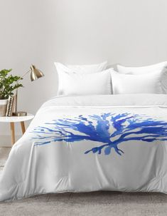 Decorate your beach house master bedroom or guest room with our nautical blue and white sea coral comforter! Coastal Bedding, Coastal Bedrooms, Home Bedroom, Girls Bedroom, Bedroom Ideas, Coastal Area Rugs, Home Crafts, Bedding Sets