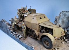 """SdKfz 7/1 dio """"Lost in the rubble"""" . 