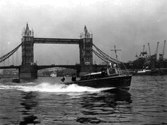 The Thames River Police in action in the early 1960's.