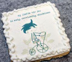 My liefde vir jou, Afrikaans, edible images My Happy Ending, Afrikaans, Biscuits, Cake, Desserts, Crack Crackers, Tailgate Desserts, Cookies, Deserts