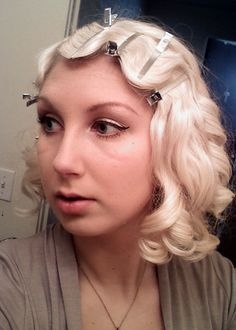 How to do finger waves, vintage hair tutorial. This is a great tutorial - I have finger waved my hair several times because of it.