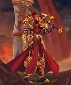 World of Warcraft Art Dark Fantasy, Fantasy Armor, Fantasy Weapons, Fantasy Girl, Fantasy Men, World Of Warcraft Paladin, World Of Warcraft Game, Warcraft Art, Elsword