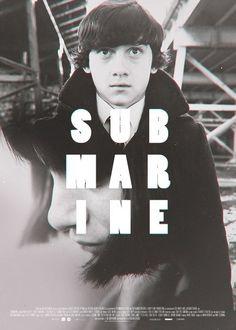 Creative Submarine, Graphic, Illustration, Poster, and Film image ideas & inspiration on Designspiration Fan Poster, Poster Art, Poster Frames, Poster Maker, Design Graphique, Art Graphique, Submarine Movie, Submarine 2010, Cinema Art