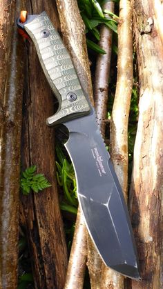 Fox Knives TRAPPER Tactical Survival Fixed Blade Knife With Micarta Handle