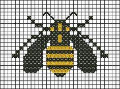 Bee cross stitch http://graficos-patrones-crochet-tricot.blogspot.com.ar/