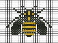 Bee cross stitch http://graficos-patrones-crochet-tricot.blogspot.com.ar/