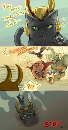 Animal Avengers by ~Mushstone on deviantART hahahahahahahahahaha I'm dying lol