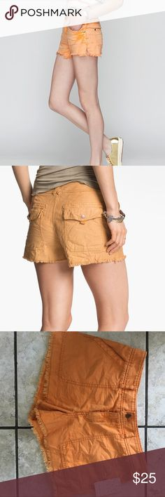 NWT Free People Cargo Shorts NEW with tags! Free People cargo shorts in shade Marigold. Retailed for $68! Size 8.   🌺 🌺 OFFERS Welcome, but if you buy at my price you will be able to choose a beauty FREEBIE 💄 💄NO TRADES Free People Shorts Cargos