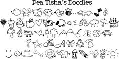 Cute Doodles To Draw | not all doodles shown above complete doodle chart shown below