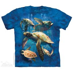 Sea Turtle Family M NWT The Mountain 100/% Cotton Kid/'s T-Shirt