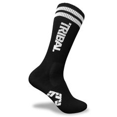 ec12bb6478147 Tribal Streetwear T-Star Black Logo Socks