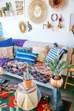 idea de decoración boho chic #decoratingideas #design #bohochic #bohemian