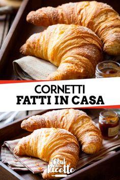 Italian Pastries, Italian Desserts, Italian Recipes, Banana Bread Ingredients, Smoothie Ingredients, Homemade Croissants, Paneer Recipes, Vegan Baking, Snacks