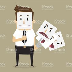 Fake businessman wearing mask smile rage cavaliers. Business con royalty-free stock vector art Free Vector Art, Cavalier, Rage, Royalty, Concept, Smile, Business, Illustration, How To Wear
