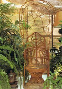"Paris flea market find......... Peacock chair. ""The World of Muriel Brandolini Interiors"""