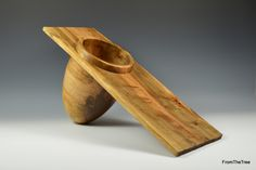 off set beech bowl made by George Watkins