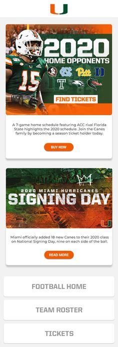Miami Football, Season Ticket, Miami Hurricanes, Marketing Automation, Seasons, Seasons Of The Year