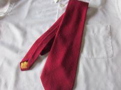 Vintage Mens Tie  Polyester 54 x 4  Red #NeckTie