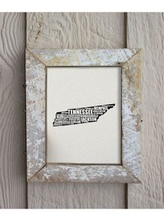 SALE a word about TENNESSEE by hunterandsmile, $17.50