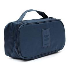 Lady Portable Waterproof Makeup Bra Underwear Travel Organizer Bag