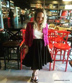 Jaqueta pink... Para o primeiro look resolvi apostar numa combinação mais básica...