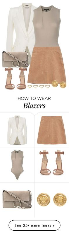 """""""Sem título #1200"""" by manoella-f on Polyvore featuring Alexander McQueen, adidas, See by Chloé, Chloé, Gianvito Rossi, Ana Khouri and Versace"""